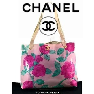 🌺CUSTOM🌺 Vintage CHANEL Perforated Shopping Tote